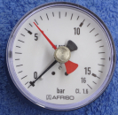 Manometer 0-16bar Afriso (Schleppzeiger, axial)