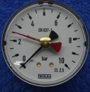 Manometer 0-10bar Wika (Schleppzeiger, axial)
